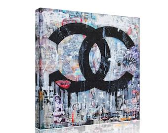 Chanel Funky Canvas Print Art