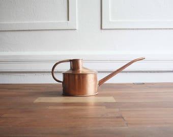 Vintage Copper Watering Can-Vintage Copper Watering Pot-Copper Planter-Pitcher Vase-Copper Teapot-Brass Pot -Copper Vase-Copper Watering Can