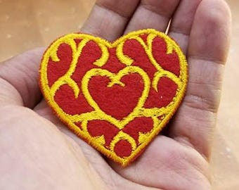 """Legend of Zelda Heart Container Iron on 2"""" Patch"""