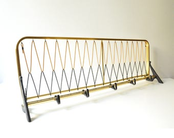 Midcentury Modern Peg Rack - Wall Hanging - Coat Rack