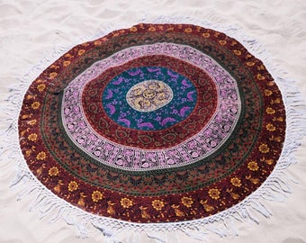 Beautiful Round mandala tapestry queen size