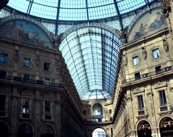 Milan Galleria Tilt Shift Print
