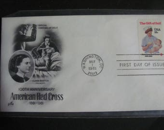 1981 First Day Cover Clara Barton American Red Cross