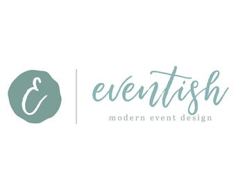 Event Planner Logo - Event Logo - Premade Logo - Blogger Logo - Artist Logo - Custom Logo - Minimal Logo - Small Business Logo