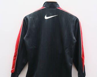 Vintage NIKE Big Logo Dri Fit Sportswear Black Zipper Training Jacket Size M