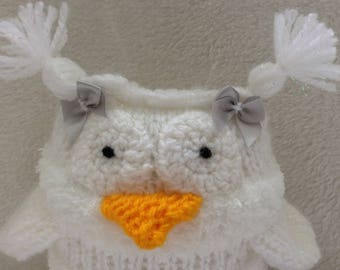 Knitted White Owl