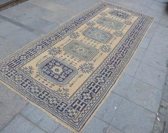 Turkish Runner Rug, Oushak Runner Rug, Handmade  Overdyed Rug, Vintage Rug Runner, Area Rug  (340 cm x 140 cm)  11,1 ft x 4,5 ft  model: 808