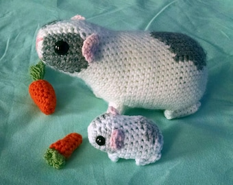 Crochet Guinea Pig and Baby