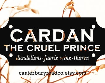 Cardan The Cruel Prince| Faerie Candle | Soy Candle | Holly Black | Fae Candle | Book Lover Gift | Literary Candle | Bookish Candle