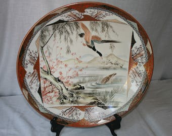 Vintage Asian Hand Painted Plate