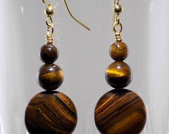 Tiger Eye beads,brown, gold, simple, gorgeous beads,