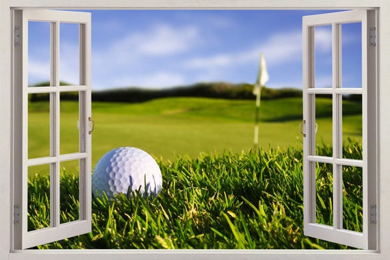 3D Golf Ball Window Wall Decal by DecorShopDesigns