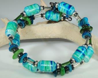 Tie Dye 02 (Upcylced Paper Bead Bracelet/HPBW0008)