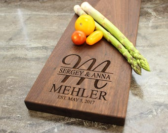 Personalized Cheese Board, Serving Board, Bread Board, Custom, Engraved, Wedding Gift, Housewarming Gift, Anniversary Gift, Engagement #27