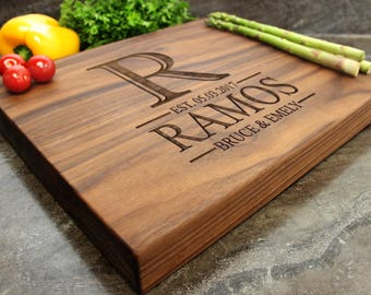 "Personalized Chopping Block 12x15x1.75"" - Engraved Butcher Block, Custom Chopping Block, Housewarming Gift, Wedding Gift #30"