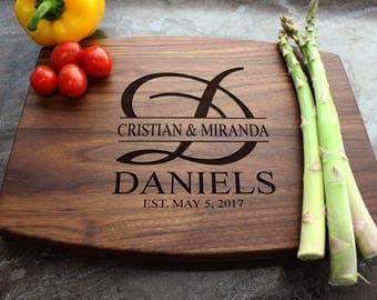 Personalized Cutting Board - Engraved Cutting Board, Custom Cutting Board, Wedding Gift, Housewarming Gift, Anniversary Gift, Engagement #27