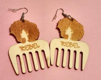 SM/MED Rebel Afropick Earrings