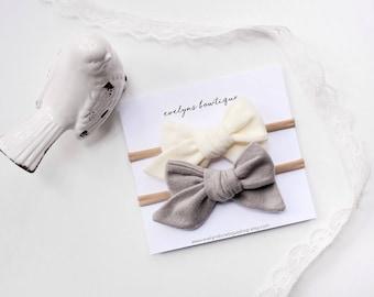 Ultra Soft Fleece Bow | Baby headband set, Baby Headband, Small Bows, Baby Bows, Newborn headbands, Nylon Headbands,Baby hair bows,