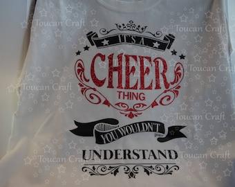 Cheer Thing -Tee Shirt, Girl, Women, Red, Black, Glitter, Customize