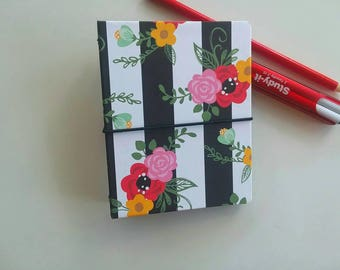 Summertime Floral Bookdori Passport Size Hardcover Fauxdori