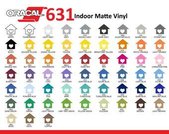 Oracal 631 Removable Craft Vinyl - Indoor Vinyl - Wall Vinyl - Matte Vinyl
