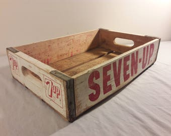 Vintage 7 Up Wooden Soda Crate