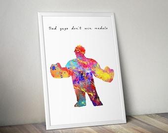 Watercolor Art Print Disney Wreck-It Ralph Pixar, Disney Prints, Printable Poster, Watercolor Disney Pixar,Vanellope Schweetz,Nursery Print