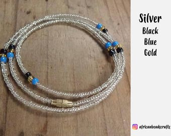 Almost Silver - Waist Beads - Belly Chain - Belly Beads - African Waist Beads
