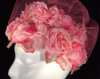 1950's Lucille O'Ball Floral Hat