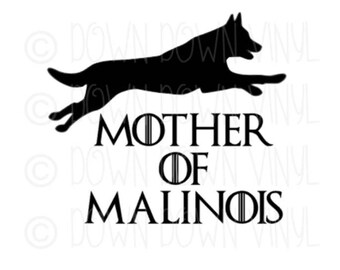 "Mother of Malinois | Father of Malinois | 5"" Vinyl Decal 