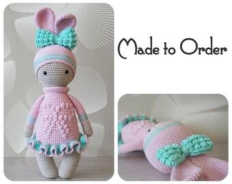 Crochet doll melita amigurumi doll zyzu christmas gift crochet bunny urte amigurumi toy crochet rabbit zyzu christmas gift easter negle Images