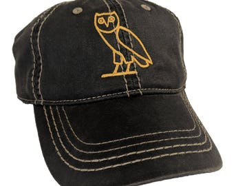 Drake OVO Owl Embroidered Distressed Cap