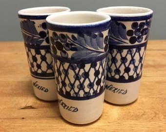 Mexican Double Shot Glasses (Set of 3)