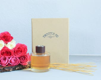 Home Fragrance - Garden Dusk - 200ml - Reed diffuser - Room Scent - Natural and Organic Essential Oils - UK Handmade - Twoodle Co