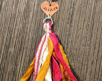 Heart and tassel necklace