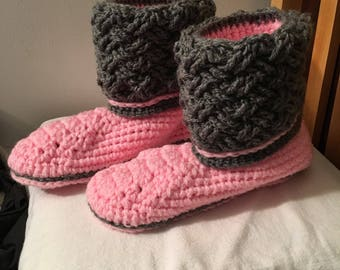 Women's crocheted slippers