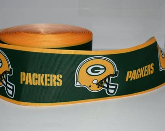 "Green Bay Packers 3"" Grosgrain Ribbon T19A By the Yard"