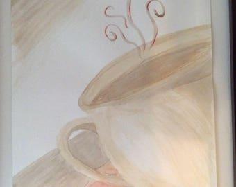 Coffee painting