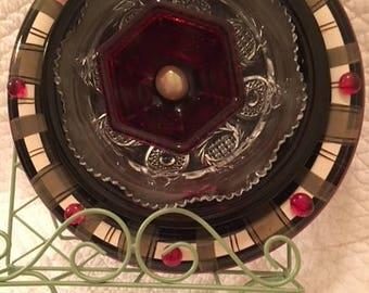 Romantic Ruby Red Holiday, Garden Art Flower, Home Decor