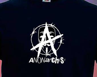 Anonarchy Hacktivist Activist Punk Anarchy Anonymous T Shirt S-3XL