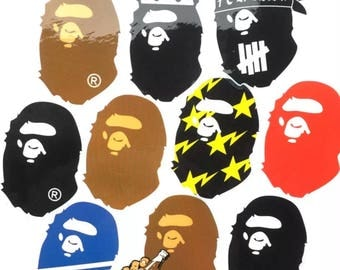 Bape Head Sticker x 10 Mixed