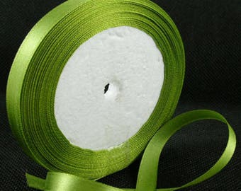 The meter Chartreuse satin ribbon