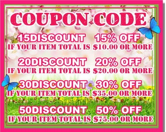 COUPON CODE / code PROMO