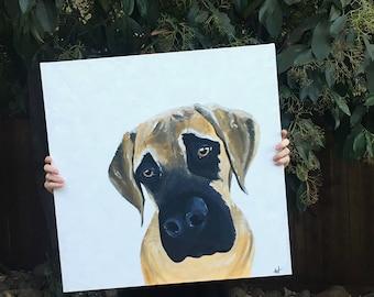 Custom Mans Best Friend Painting