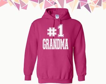 No 1 Grandma Hooded Sweatshirt #1 Grandma Sweater Grandma Hooded Sweater Hoodie Sweatshirt Sweater Hooded Sweatshirt Gift For Grandma