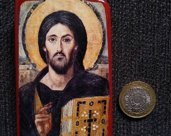 Jesus Christ Pantocrator (=all-ruling): encaustic icon from St Catherine's Monastery in Sinai, Egypt.