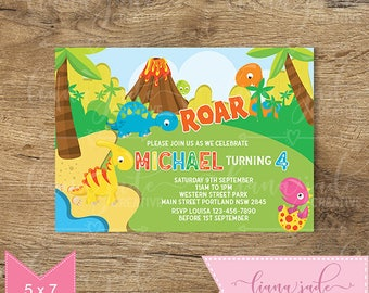 Dinosaur Invitation - Dinosaur Birthday Invitation - Dinosaur Birthday Party - DIY Printable Invitation!