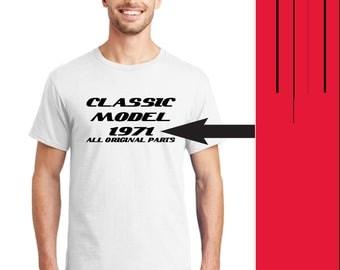 Birthday Shirt, Birthday Gift Men, Birthday T-Shirt, Classic Model Birthday T-Shirt, Custom T-shirt, Gift for Husband, Dad Gift, Father Gift