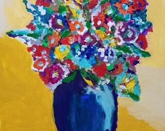 "Original artwork ""Blue Vase"""