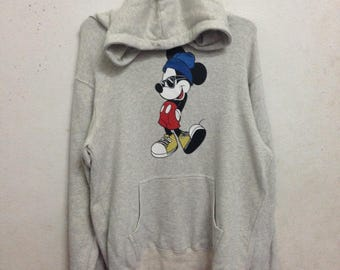 Vintage 90's Disney Mickey Mouse Hoodies Sweatshirts Size L